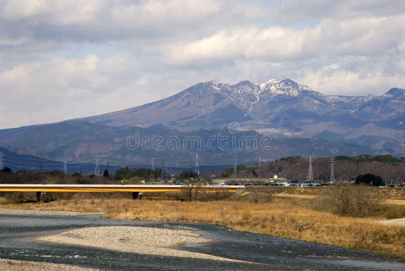 日本阿尔卑斯,本州,日本 免版税库存照片