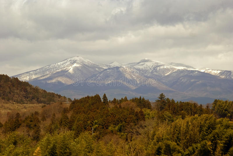日本阿尔卑斯,本州,日本 免版税库存图片