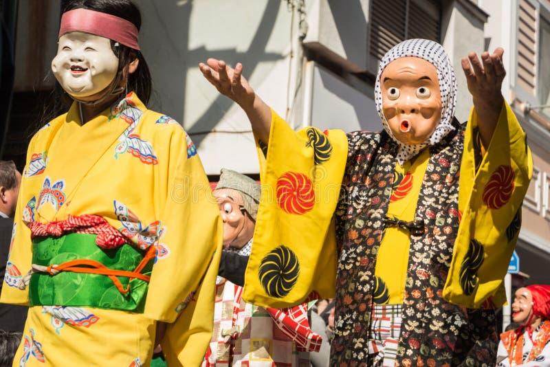日本面具 免版税图库摄影