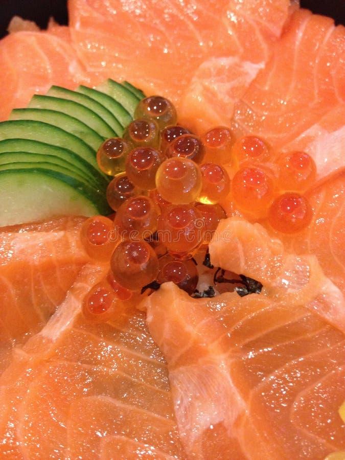 日本食物三文鱼 免版税库存照片