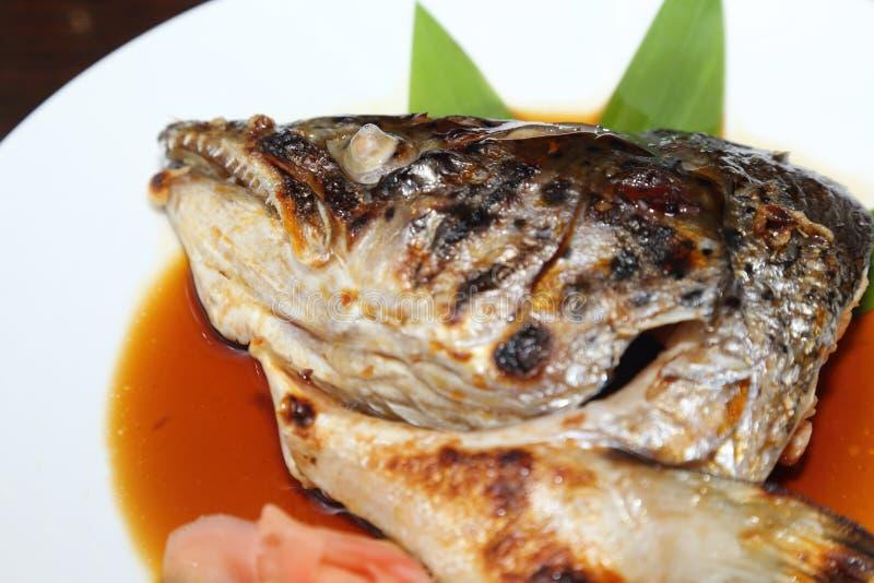 日本食物三文鱼Kabutoni 库存图片