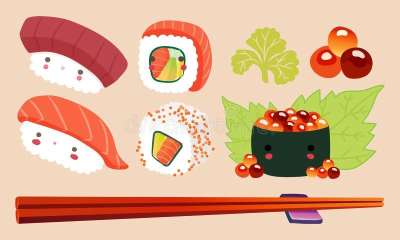 日本食物例证,寿司传染媒介 皇族释放例证