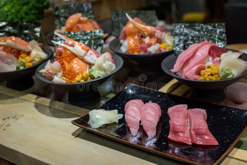 日本食物集合品种  免版税库存照片