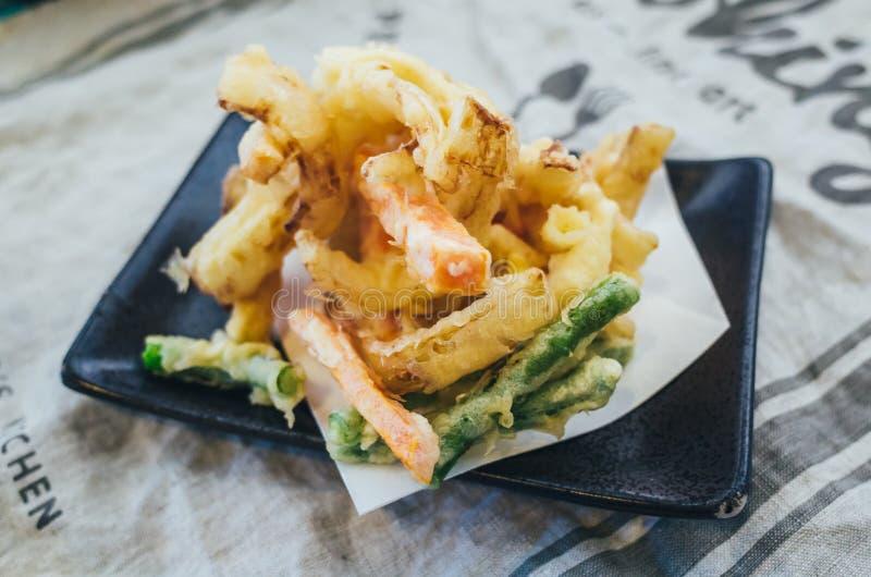 日本食物:菜天麸罗 库存图片