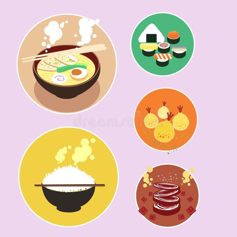日本食物 向量例证