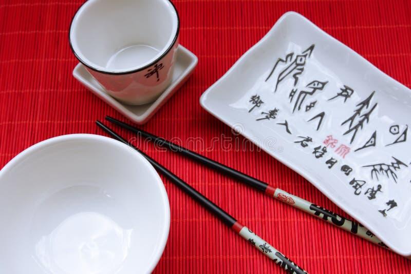 日本餐馆传统器物 图库摄影