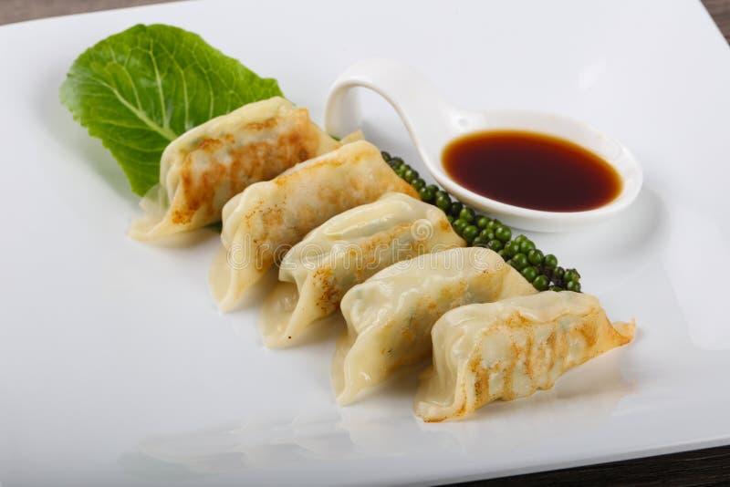 日本饺子- gyoza 免版税库存照片