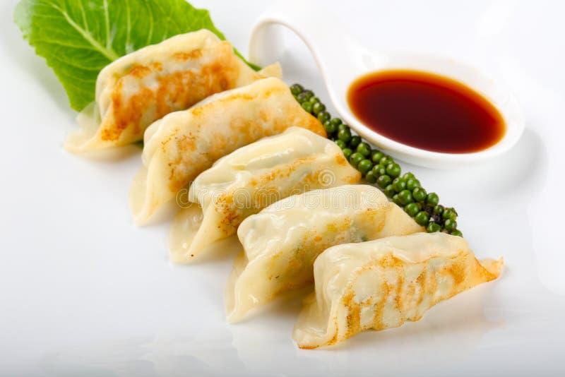 日本饺子- gyoza 免版税库存图片