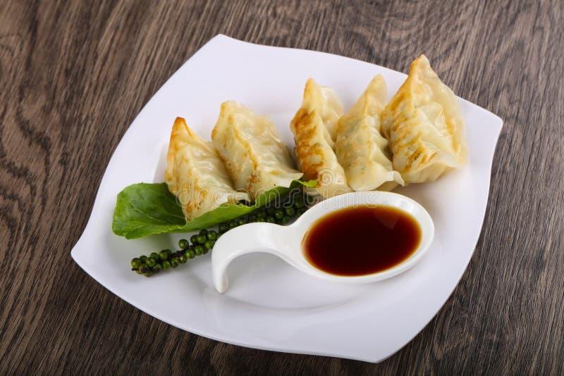 日本饺子- gyoza 库存图片