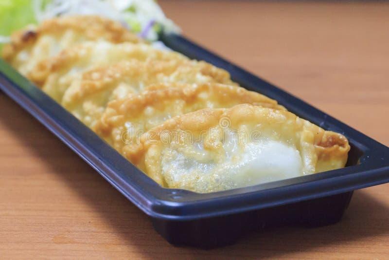 日本饺子- gyoza 免版税图库摄影