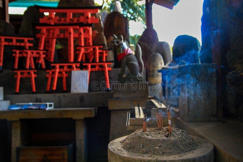 日本香火棍子,京都 免版税图库摄影