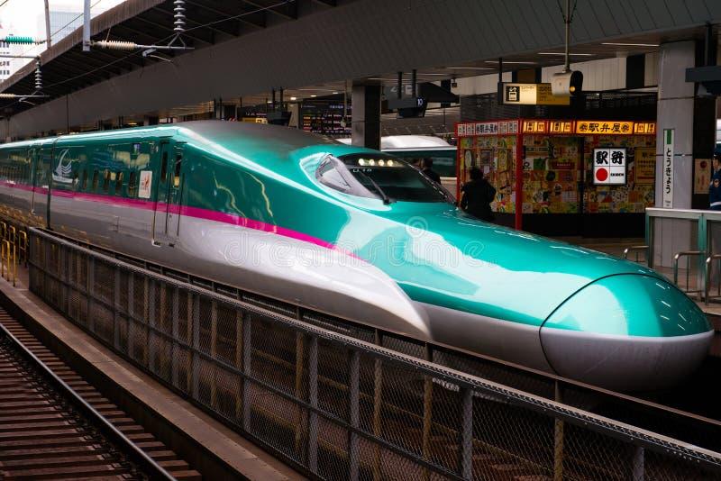 日本高速火车,日本旅行 免版税库存图片