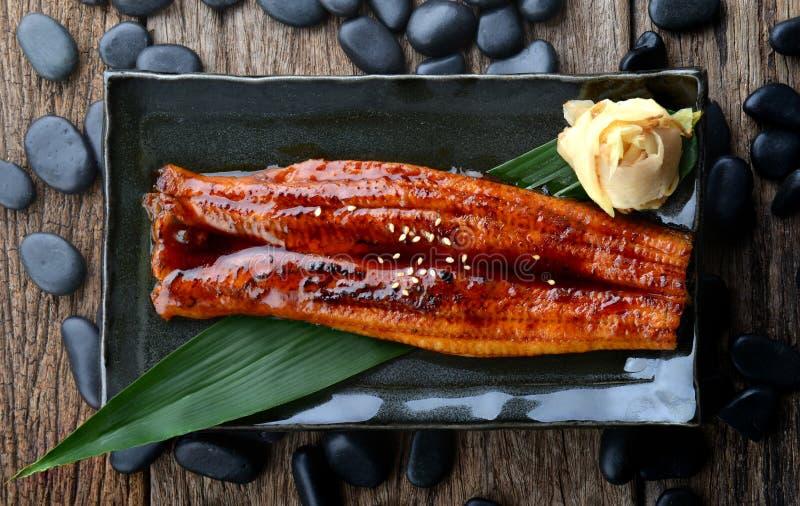 日本鳗鱼烤的或Unagi茨城 库存照片