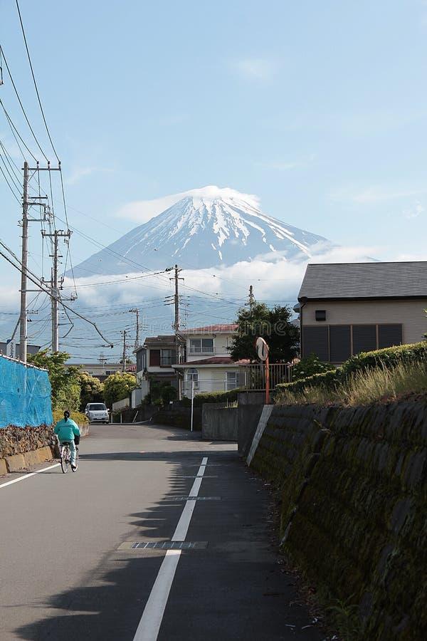 日本,富士圣的地标最美丽的山 库存图片