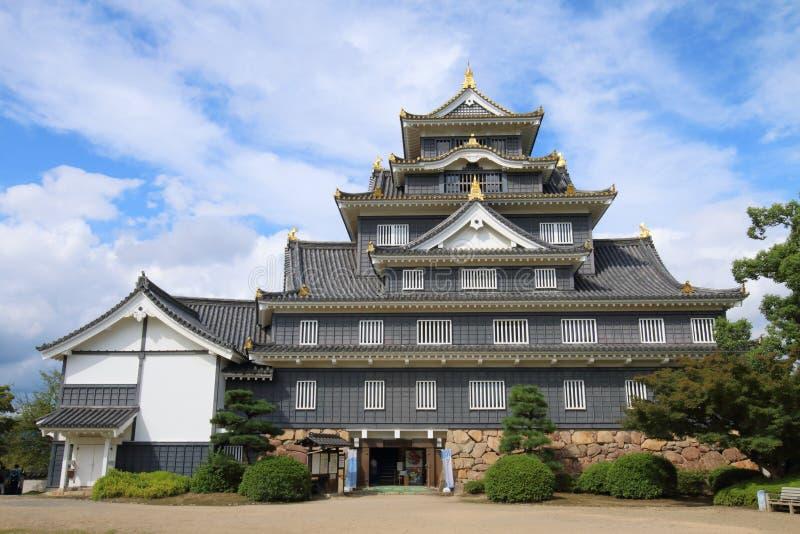 日本:冈山城堡 库存图片