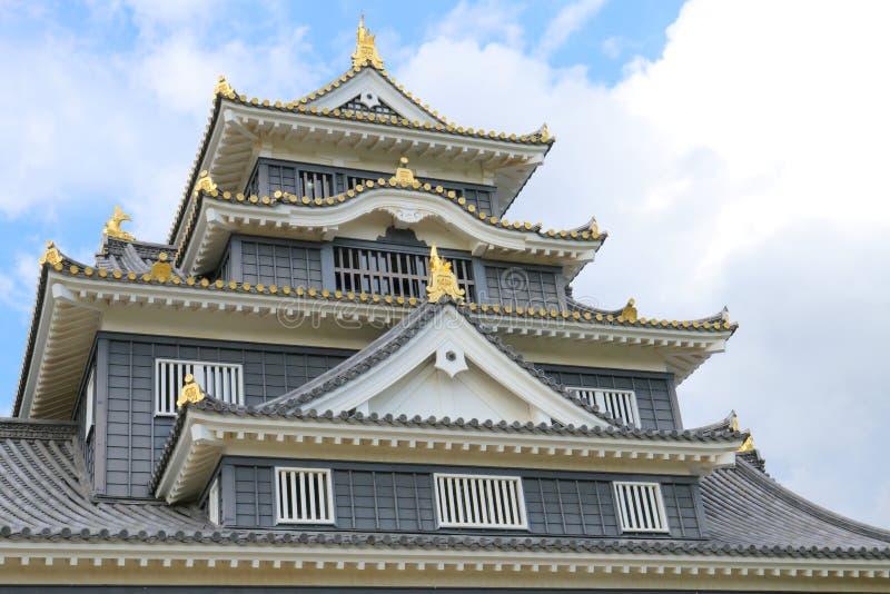 日本:冈山城堡 免版税库存照片