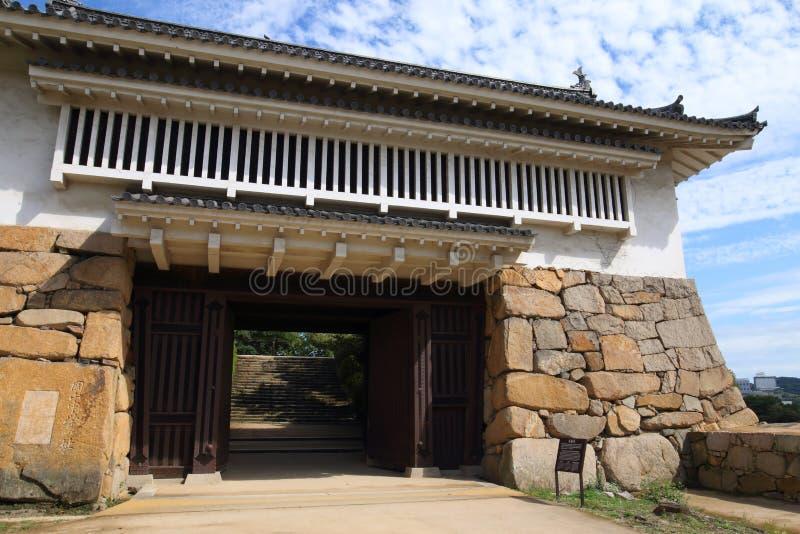 日本:冈山城堡 图库摄影