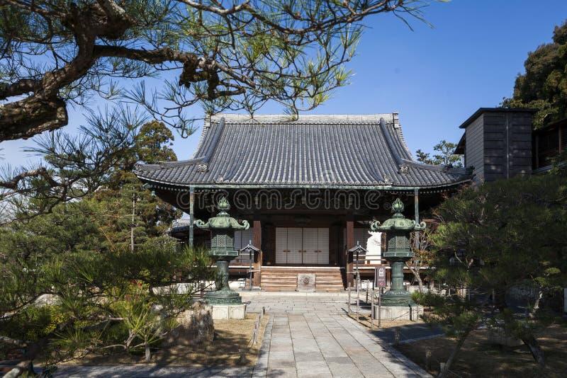 日本-京都- Rinkyuji寺庙 免版税图库摄影