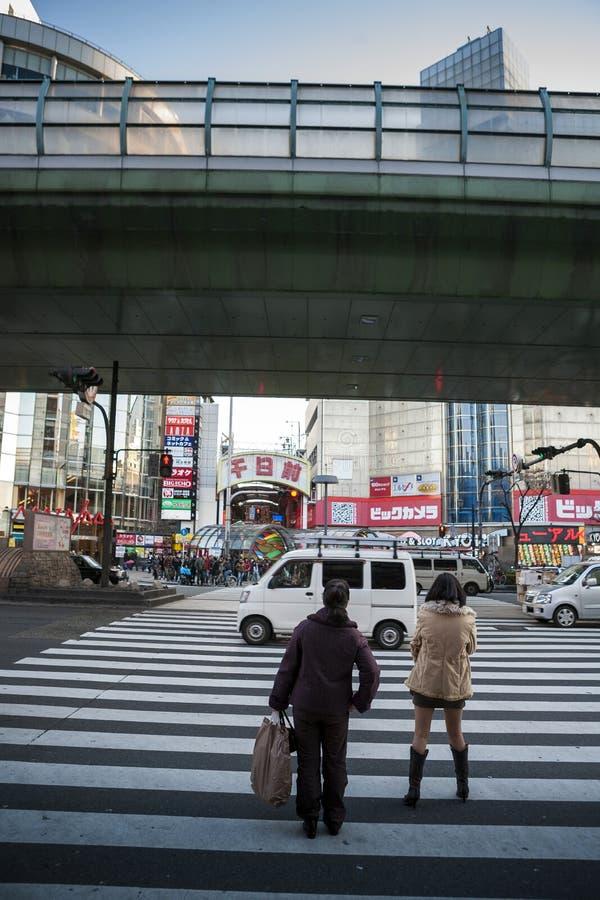 日本-大阪- sennichimae dori街道 库存图片