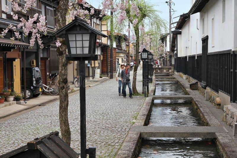 日本- Furukawa-Hida 免版税图库摄影