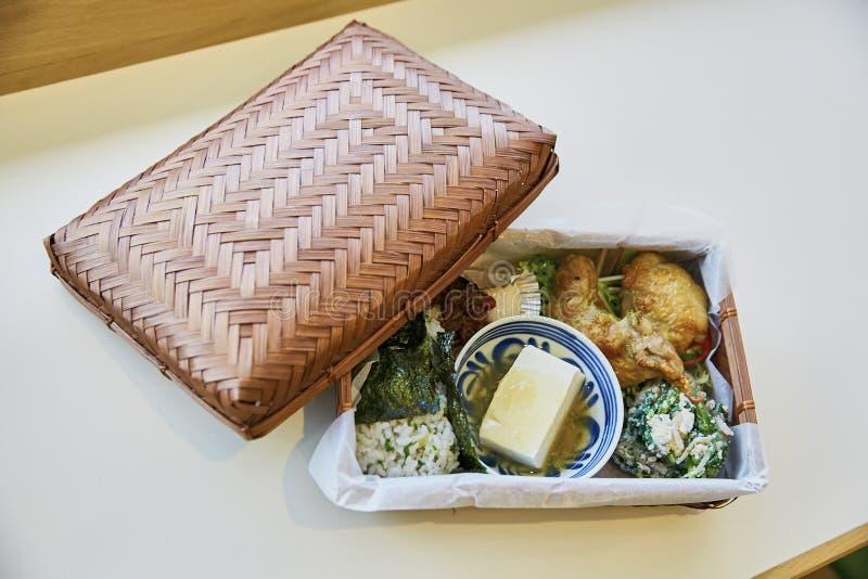日本bento箱子食物 库存图片
