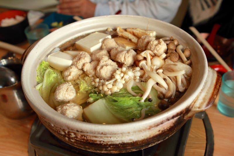 日本chanko nabe热的罐 免版税库存照片