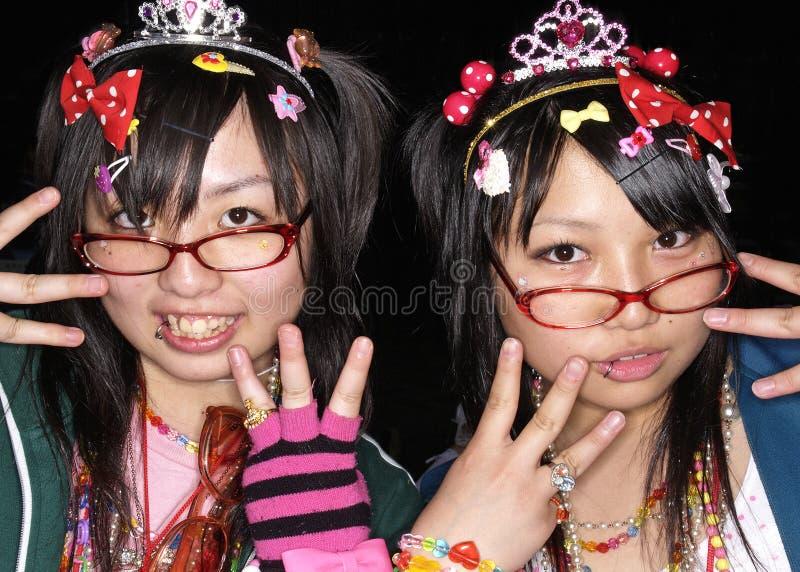 在harajuku东京日本的日本cosplay风扇 免版税图库摄影
