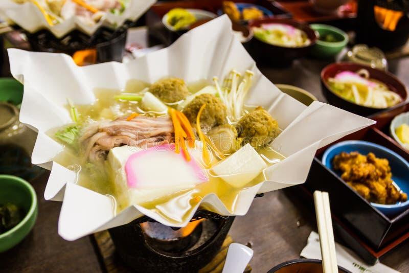日本hotpot、Nabemono或者叫的nabe 免版税库存照片
