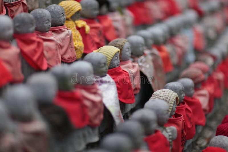 日本jizo雕象 免版税图库摄影