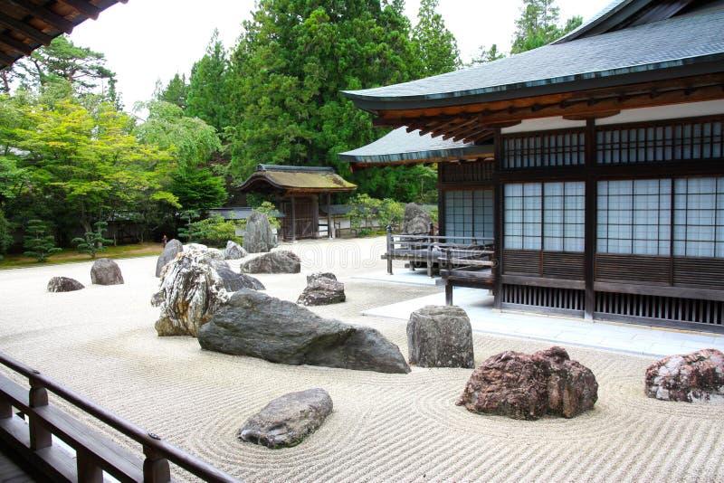 日本kongobuji koyasan寺庙 免版税图库摄影