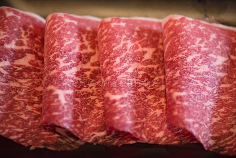 日本wagyu牛肉 库存照片