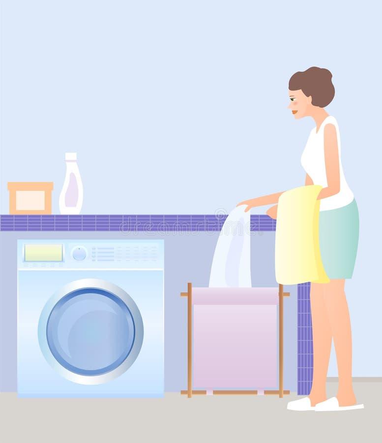 日洗衣店 向量例证
