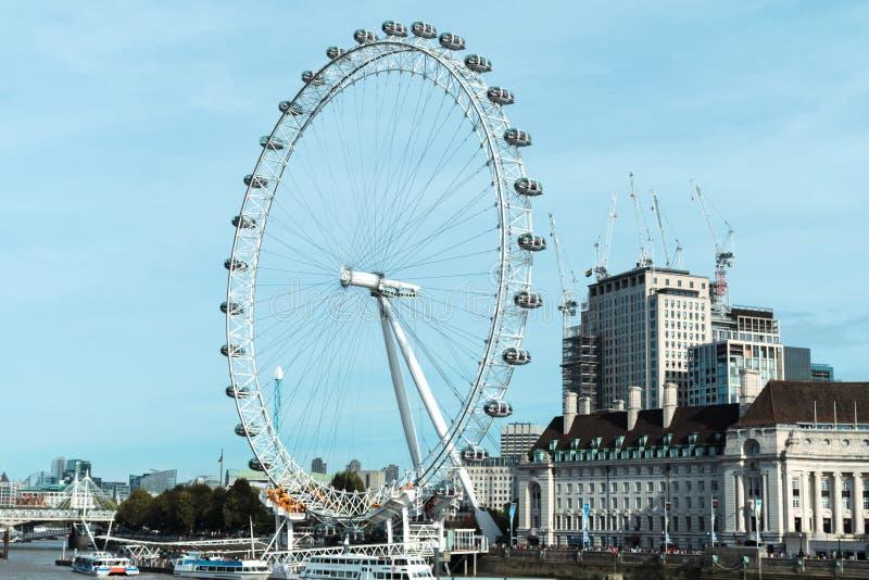 日眼睛晴朗的伦敦 图库摄影