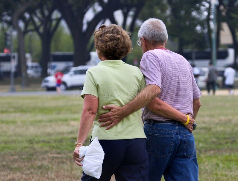 日祖父祖母一起仍然s 免版税图库摄影