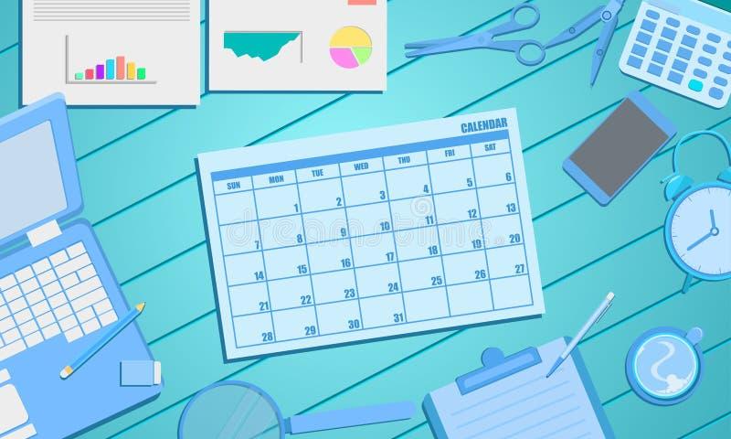 日程表企业营销概念的日历任命 向量例证EPS10 皇族释放例证