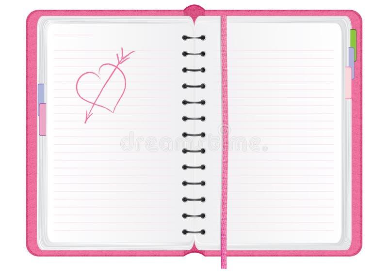 日程表粉红色 库存例证