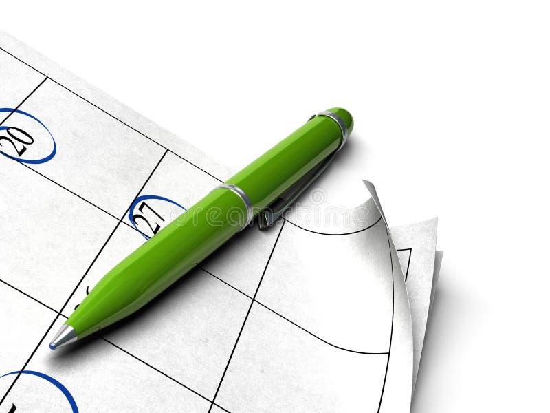 日程表绿色 向量例证