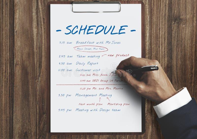 日程表计划时间活动概念 免版税库存图片