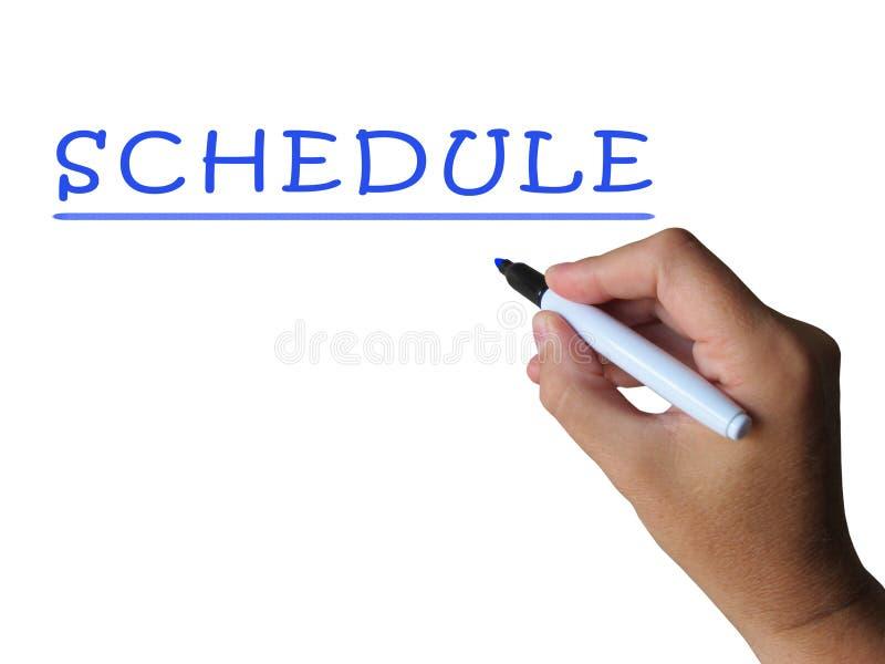 日程表词显示计划时间和任务 向量例证