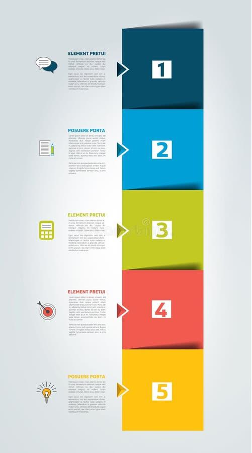 日程表,选项,横幅 Minimalistic infographic传染媒介的设计 皇族释放例证