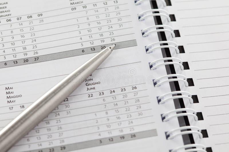 日程表 免版税库存图片