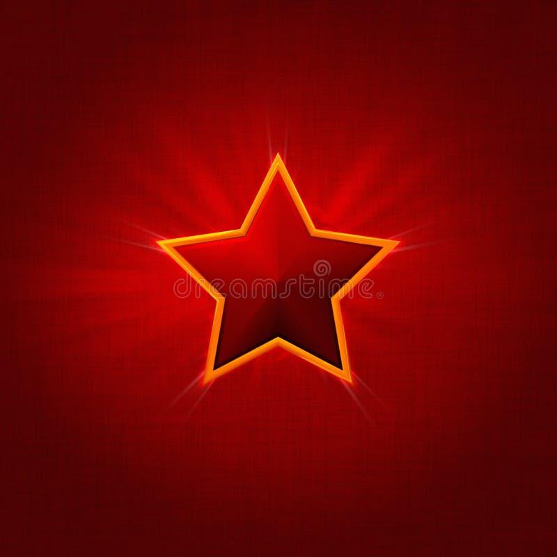日红色星形胜利 图库摄影