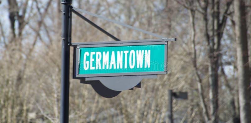 日耳曼敦,田纳西州孟菲斯郊区 免版税库存照片