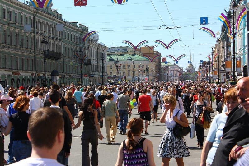 日节假日彼得斯堡st 免版税库存照片
