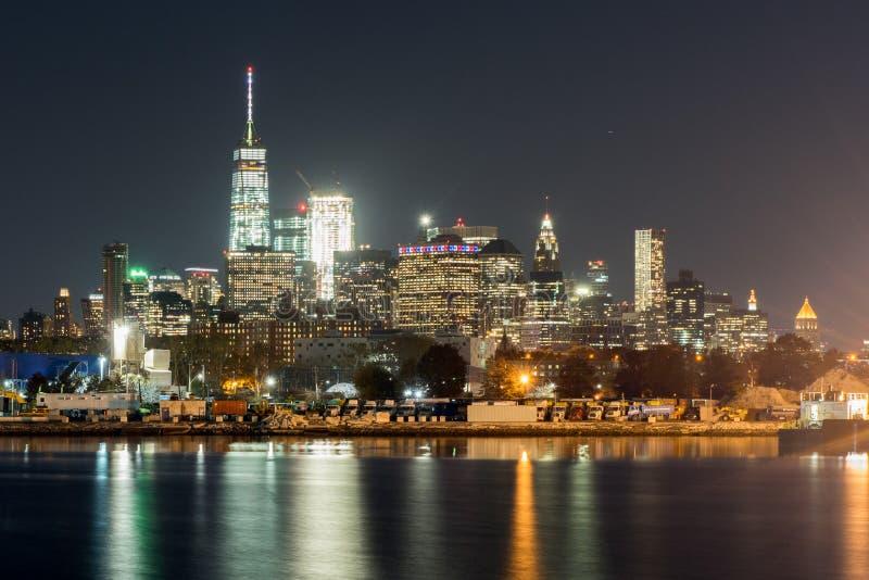 从日落公园的纽约视图 免版税库存照片