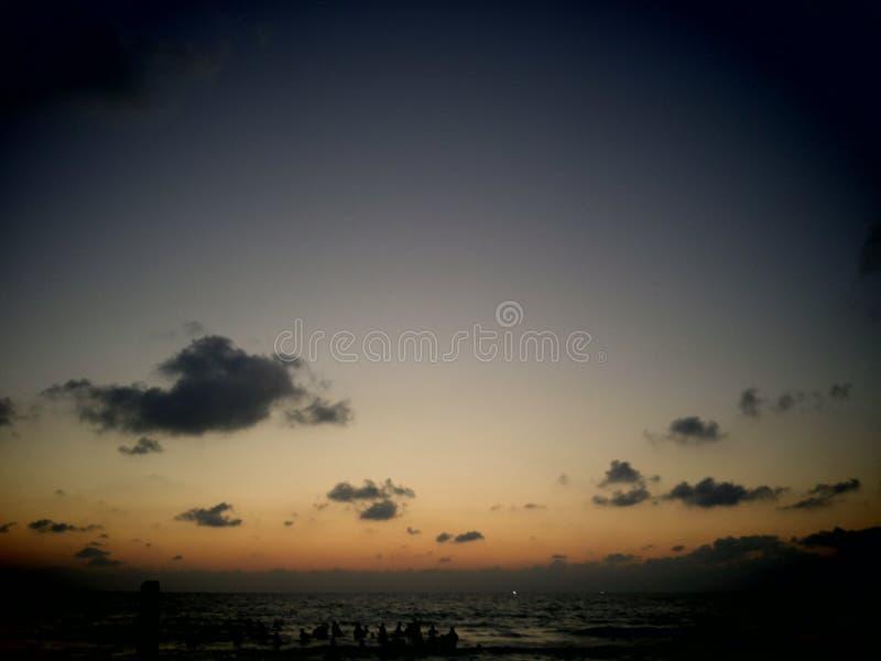 日落加沙 免版税库存照片