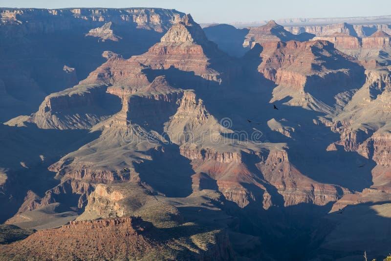 日落南外缘大峡谷,亚利桑那 免版税库存图片