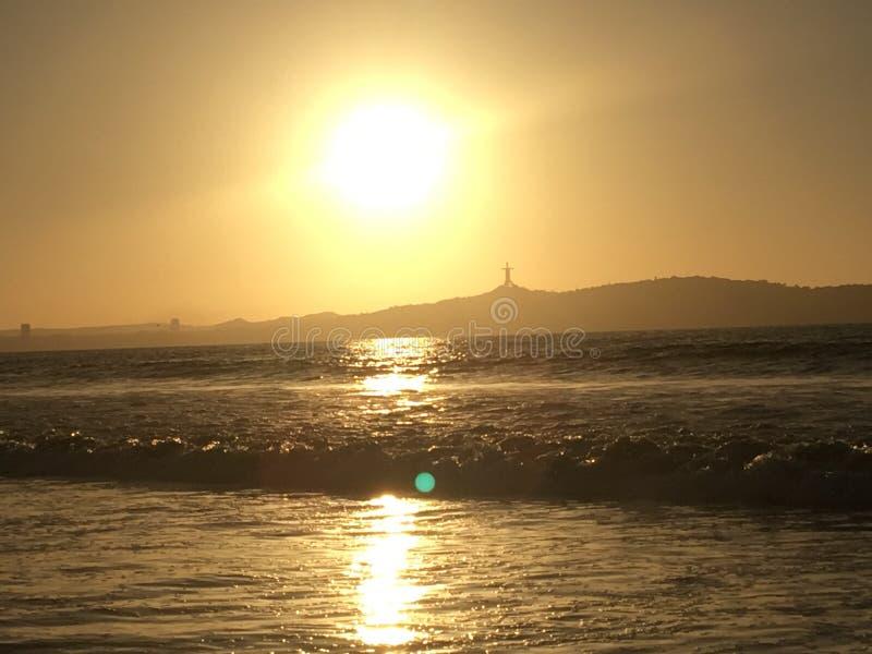 日落和日出 库存照片