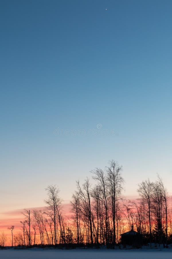 日落和星在海角后 库存照片
