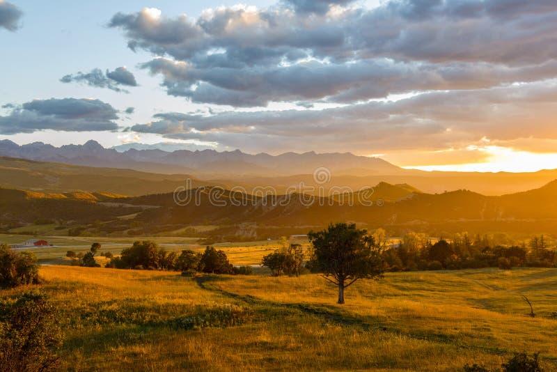 日落圣Juans 库存图片